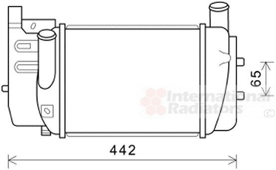 Intercooler, échangeur - VAN WEZEL - 53004645