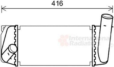 Intercooler, échangeur - VAN WEZEL - 53004668