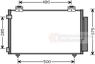 Condenseur, climatisation - VAN WEZEL - 53005487