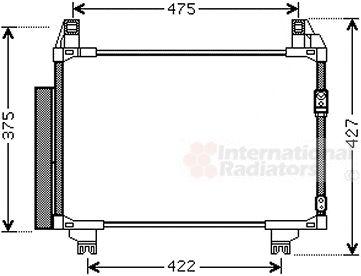 Condenseur, climatisation - VAN WEZEL - 53005497