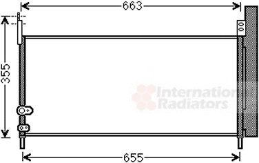 Condenseur, climatisation - VAN WEZEL - 53005576