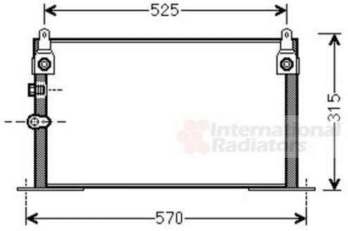 Condenseur, climatisation - VAN WEZEL - 53005585
