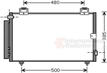 Condenseur, climatisation - VAN WEZEL - 53005594