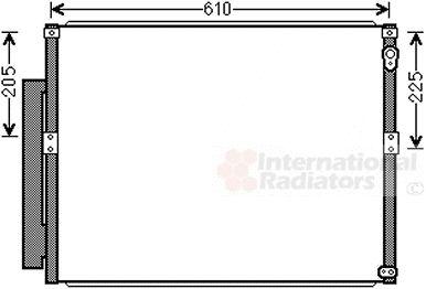 Condenseur, climatisation - VAN WEZEL - 53005634