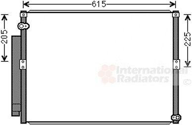 Condenseur, climatisation - VAN WEZEL - 53005640