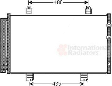 Condenseur, climatisation - VAN WEZEL - 53005646