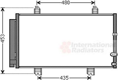 Condenseur, climatisation - VAN WEZEL - 53005653