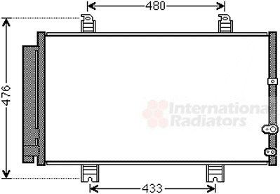 Condenseur, climatisation - VAN WEZEL - 53005662