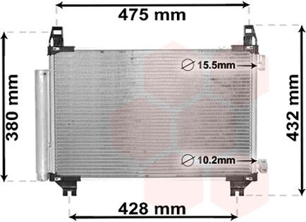 Condenseur, climatisation - VAN WEZEL - 53005665