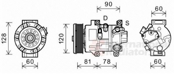 Compresseur, climatisation - VAN WEZEL - 5300K581