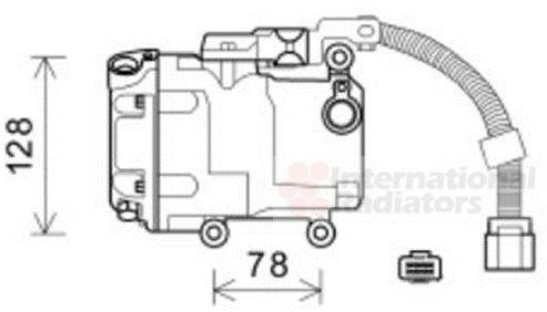 Compresseur, climatisation - VAN WEZEL - 5300K582