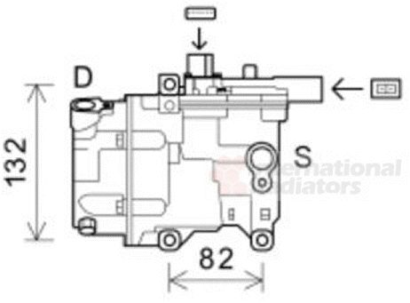 Compresseur, climatisation - VAN WEZEL - 5300K583