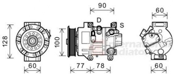 Compresseur, climatisation - VWA - 88VWA5300K584