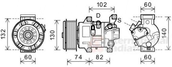 Compresseur, climatisation - VAN WEZEL - 5300K607