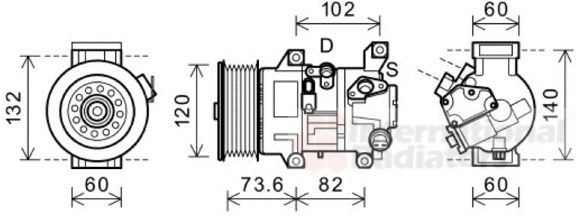 Compresseur, climatisation - VAN WEZEL - 5300K610