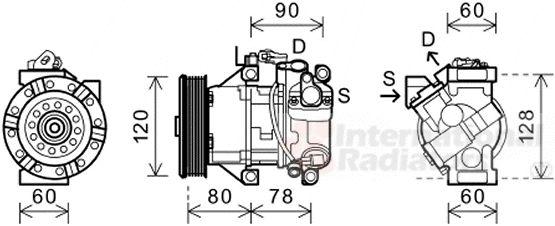 Compresseur, climatisation - VAN WEZEL - 5300K656