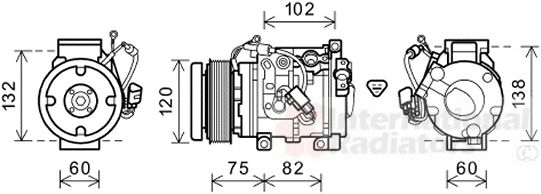 Compresseur, climatisation - VAN WEZEL - 5300K664
