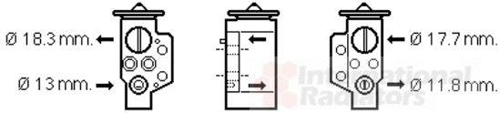 Détendeur, climatisation - VAN WEZEL - 58001311
