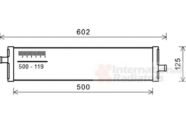 Radiateur, refroidissement du moteur - VAN WEZEL - 58002312