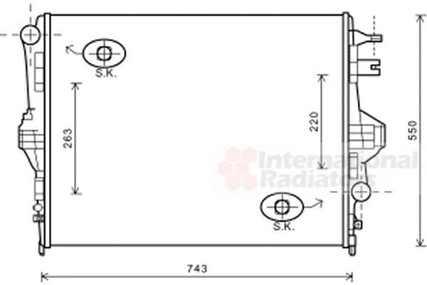 Radiateur, refroidissement du moteur - VAN WEZEL - 58002316