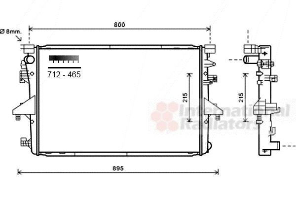 Radiateur, refroidissement du moteur - VAN WEZEL - 58002317