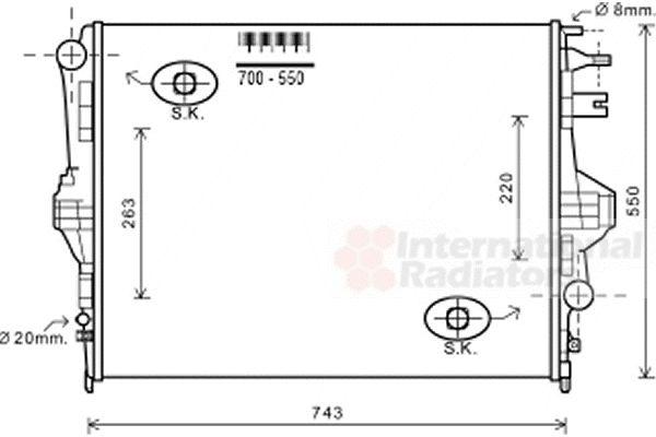 Radiateur, refroidissement du moteur - VAN WEZEL - 58002320