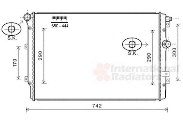 Radiateur, refroidissement du moteur - VAN WEZEL - 58002324
