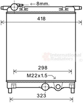 Radiateur, refroidissement du moteur - VAN WEZEL - 58002325