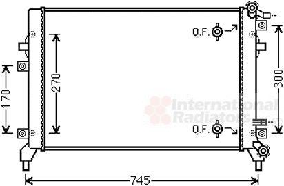 Radiateur, refroidissement du moteur - VAN WEZEL - 58002326