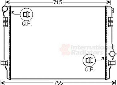 Radiateur, refroidissement du moteur - VAN WEZEL - 58002336