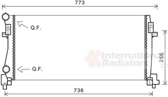 Radiateur, refroidissement du moteur - VAN WEZEL - 58002340