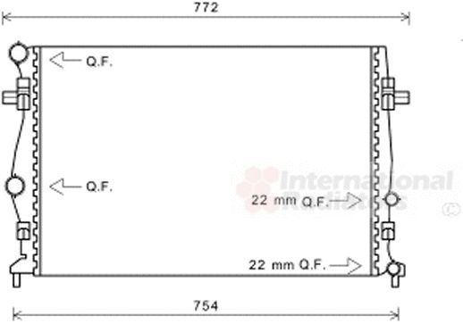 Radiateur, refroidissement du moteur - VAN WEZEL - 58002343
