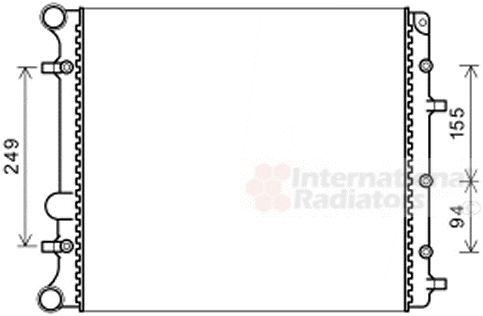 Radiateur, refroidissement du moteur - VAN WEZEL - 58002346