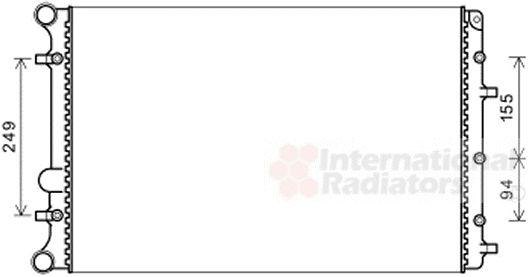 Radiateur, refroidissement du moteur - VAN WEZEL - 58002347