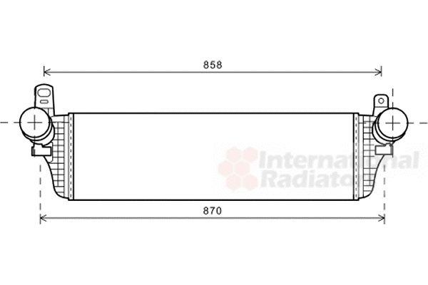 Intercooler, échangeur - VAN WEZEL - 58004313