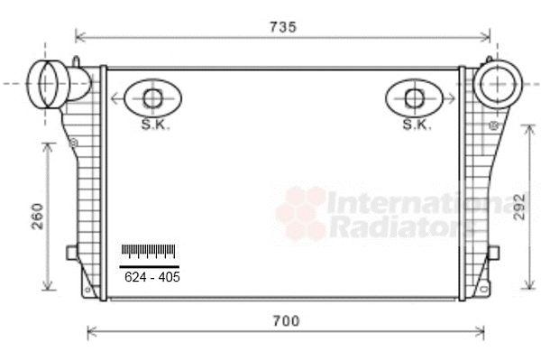 Intercooler, échangeur - VAN WEZEL - 58004319