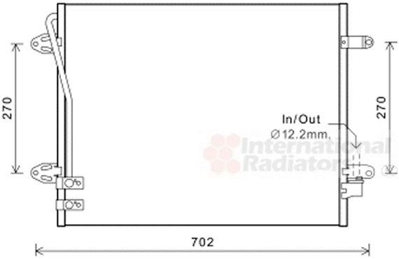 Condenseur, climatisation - VAN WEZEL - 58005322