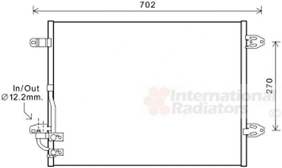 Condenseur, climatisation - VAN WEZEL - 58005323