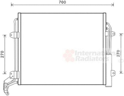 Condenseur, climatisation - VAN WEZEL - 58005324