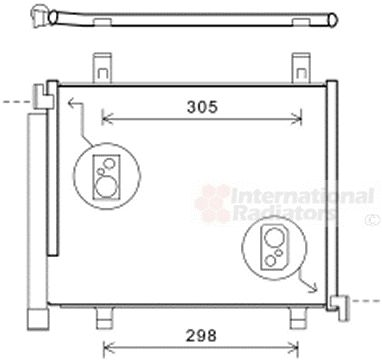 Condenseur, climatisation - VAN WEZEL - 58005327