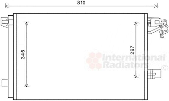 Condenseur, climatisation - VAN WEZEL - 58005328