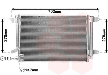 Condenseur, climatisation - VAN WEZEL - 58005330