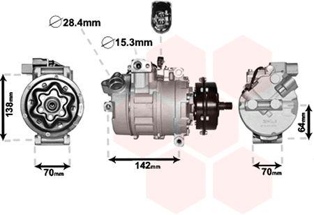 Compresseur, climatisation - VAN WEZEL - 5800K087