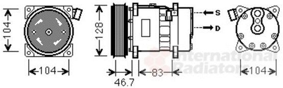 Compresseur, climatisation - VAN WEZEL - 5800K309