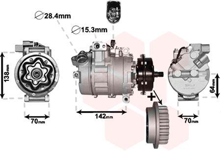 Compresseur, climatisation - VAN WEZEL - 5800K987