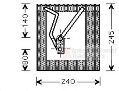 Evaporateur climatisation - VAN WEZEL - 5800V241