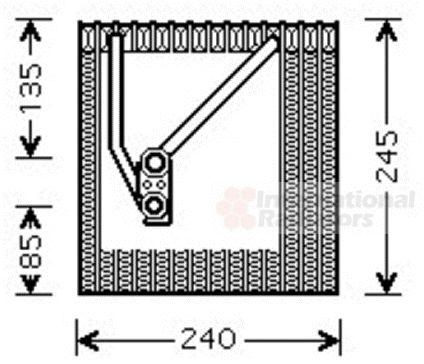 Evaporateur climatisation - VAN WEZEL - 5800V242