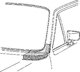 Cadre de pare-brise - VAN WEZEL - 5810152