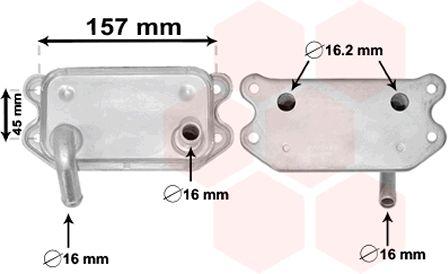 Radiateur d'huile - VAN WEZEL - 59003154