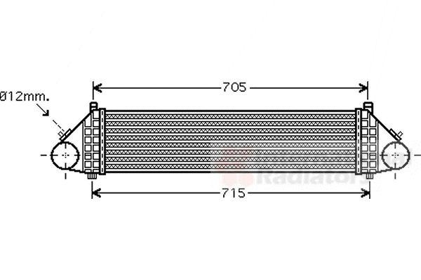 Intercooler, échangeur - VAN WEZEL - 59004164
